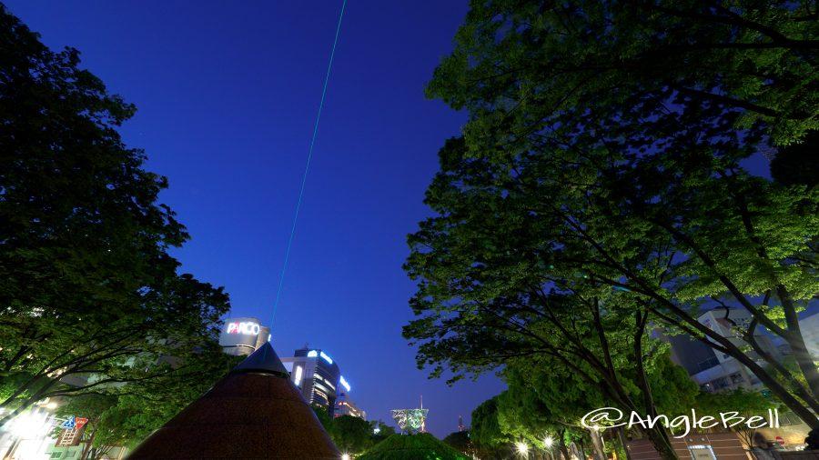 久屋大通公園 光の広場 空へのレーザー照射