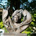 名城公園 彫刻の庭 モニュメント 女の胸像