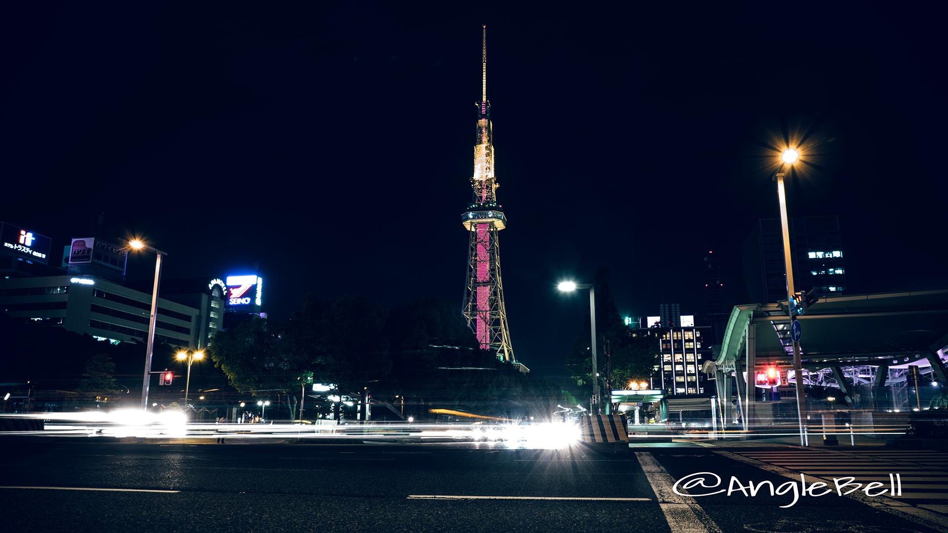 錦通から見る名古屋テレビ塔 世界赤十字デー