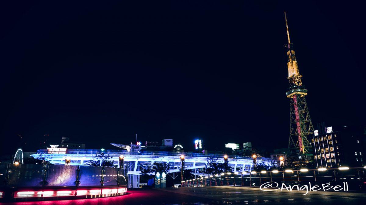 名古屋テレビ塔レッドライティング2017とオアシス21