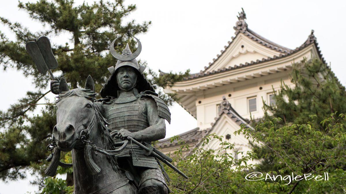 戸田氏鉄 騎馬像 大垣城