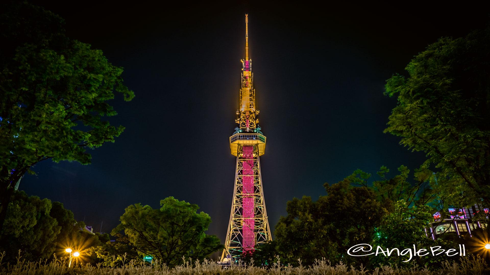 名古屋テレビ塔 南側 世界赤十字デー レッドライティング