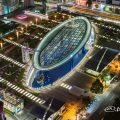 名古屋テレビ塔から見るオアシス21とキャンドル街灯『風のオルガン』