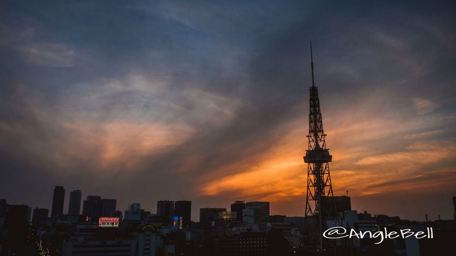 Nagoya TV Tower Silhouette