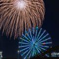 名古屋港 中川橋と花火
