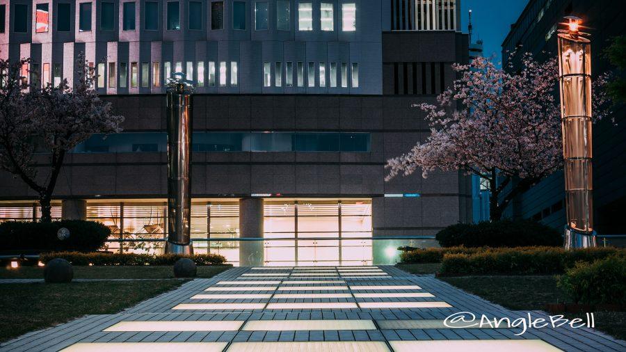 緑の大地 桜とキャンドル街灯『風のオルガン』