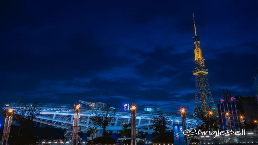 オアシス21 キャンドル街灯『風のオルガン』と名古屋テレビ塔