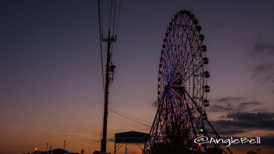 夕暮れ 名古屋港シートレインランド 大観覧車