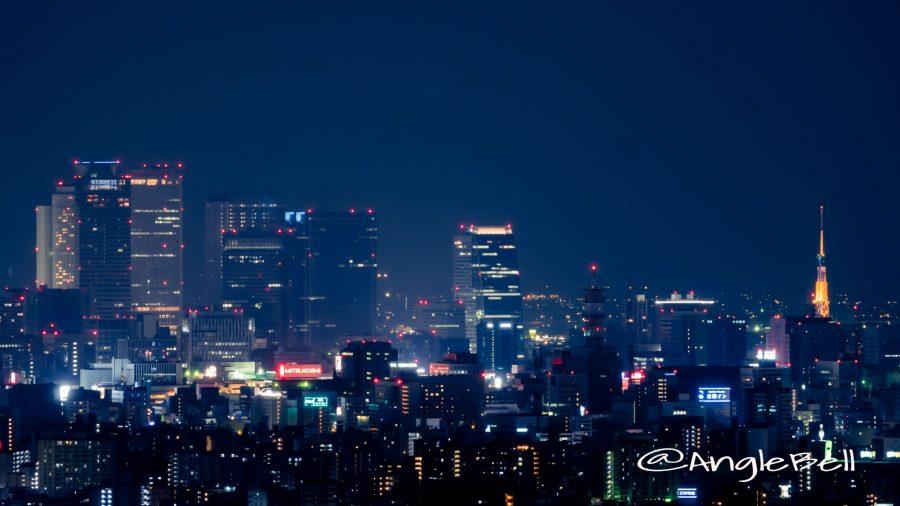 東山スカイタワー 展望室から見る名古屋駅と名古屋テレビ塔