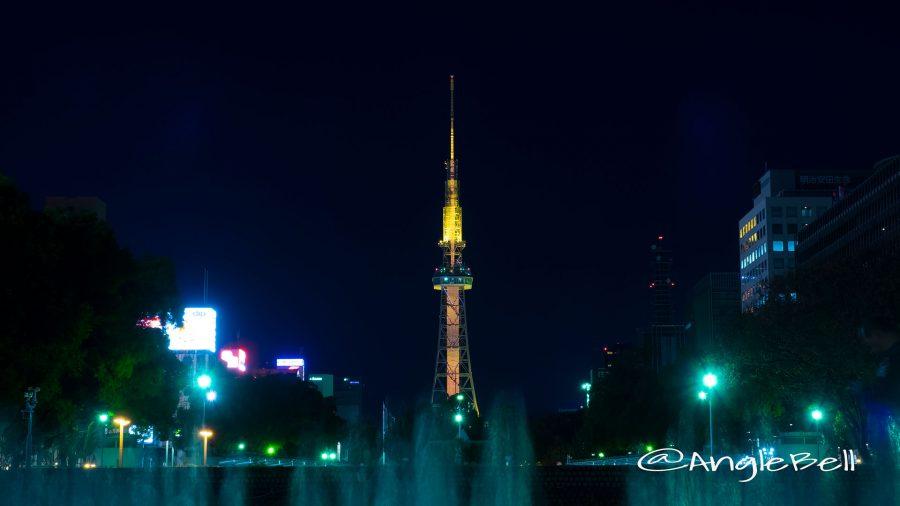 エンゼル噴水と 名古屋テレビ塔 「オレンジライティング」