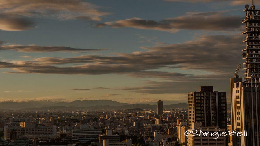名古屋テレビ塔 展望台から見た北側 夕景