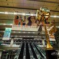 名古屋駅 中央コンコース エスカレーターと金時計