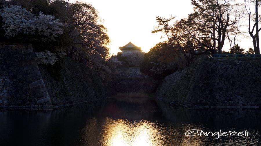 早朝 名古屋城 鵜の首と小天守