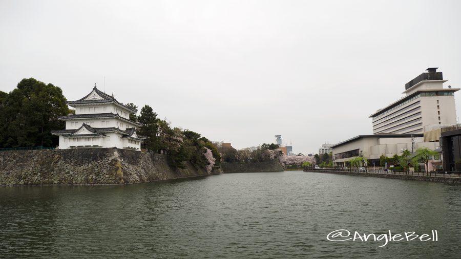 西北隅櫓と城西(西之丸)の外堀