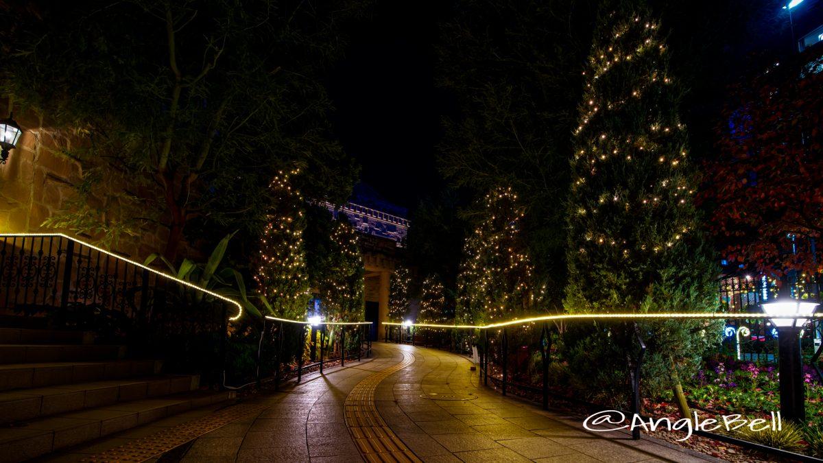 夜景 久屋大通庭園 フラリエ エントランスガーデン