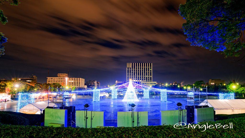 臨港緑園 展望広場から見る つどいの広場 イルミネーション2019