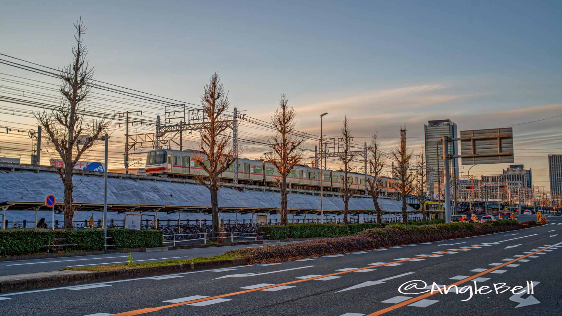 夕景 名駅通 名鉄線 February 2020