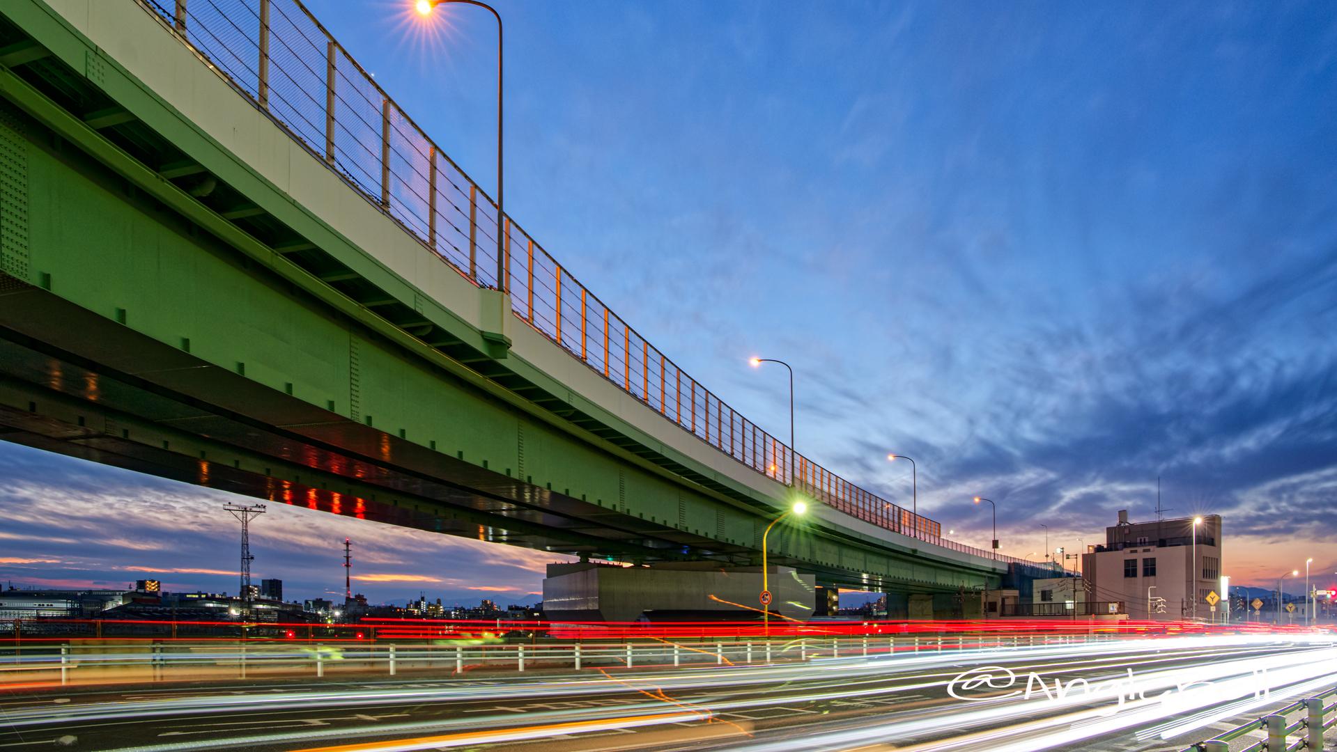 黄金跨線橋から見る夕景 February 2020