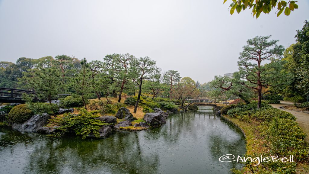 白鳥庭園 英傑島と徳川橋 March 2020