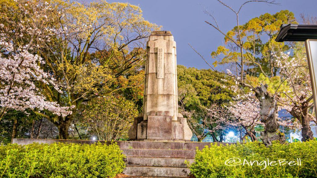 夜景 鶴舞公園 加藤高明銅像跡 2020年春