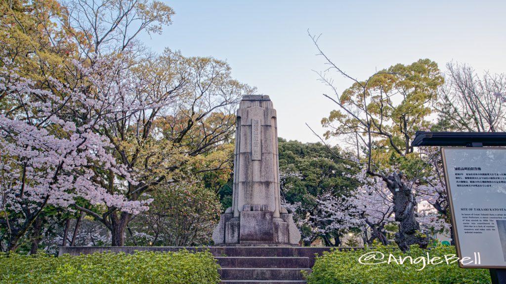 早朝 鶴舞公園 加藤高明銅像跡 2020年春