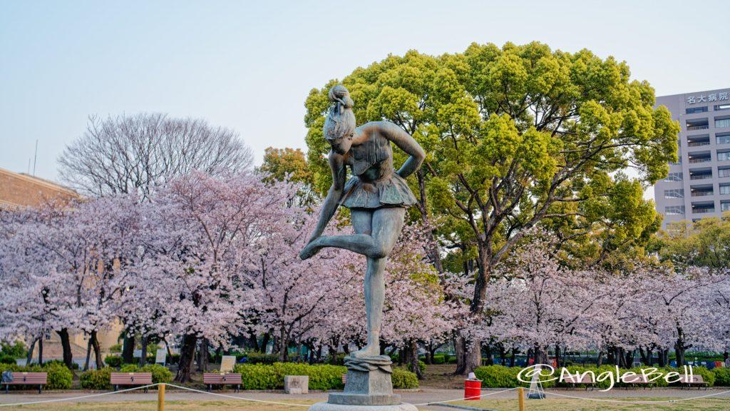 鶴舞公園 パブリックアート 踊り子とソメイヨシノ 2020年春