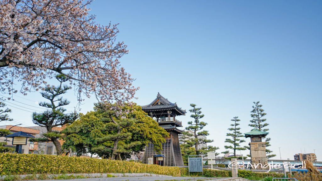 宮の渡し公園 熱田湊常夜灯と桜 April 2020