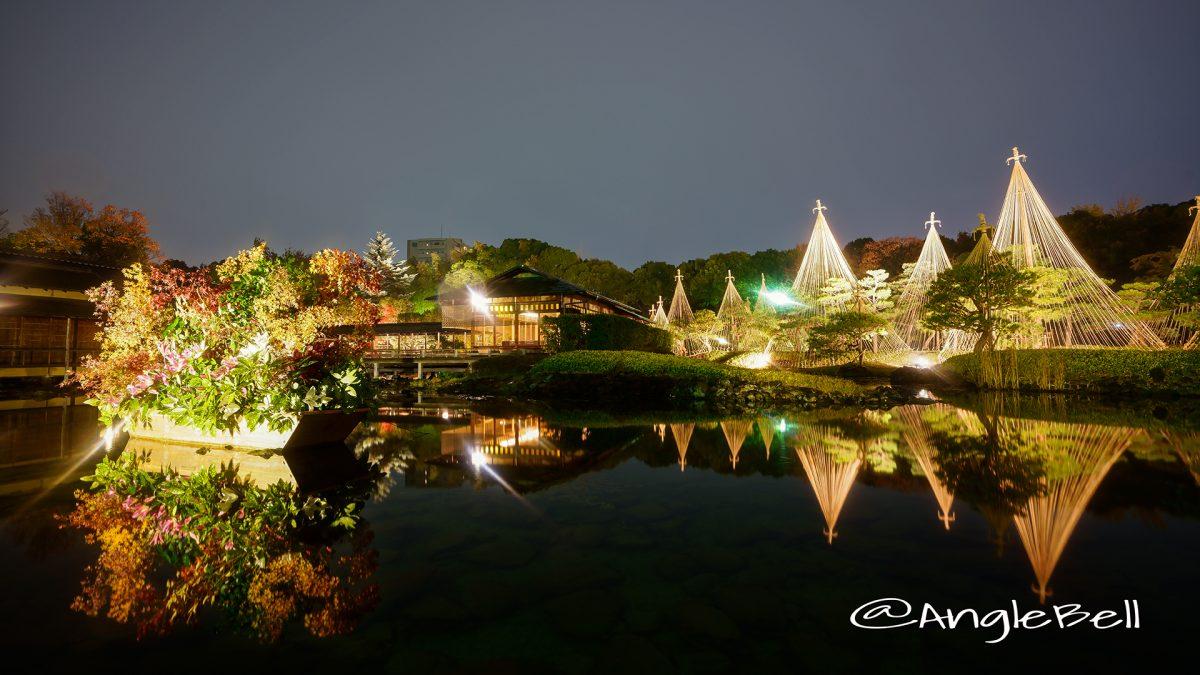 清羽亭と草月流 華と灯りの路地飾りライトアップ2017