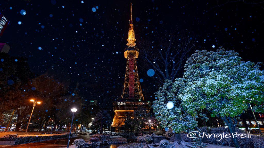 雪景 さかえ川と名古屋テレビ塔 January 2018