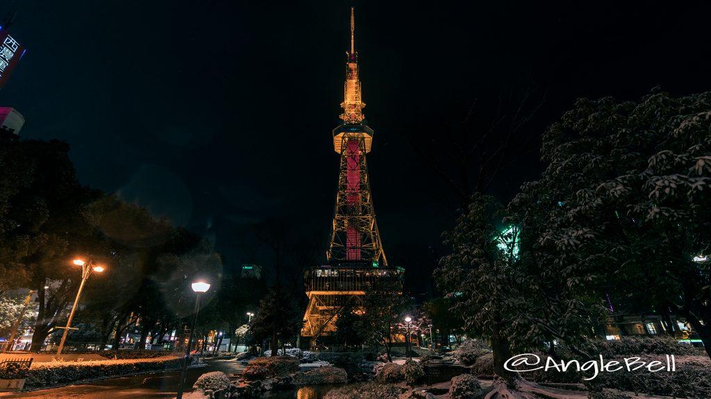 さかえ川と名古屋テレビ塔 January 2018
