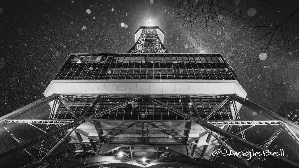 下から見上げる名古屋テレビ塔 January 2018 Monochrome