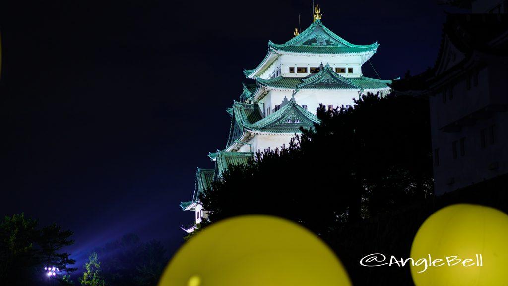 夜景 名古屋城と呼応する球体