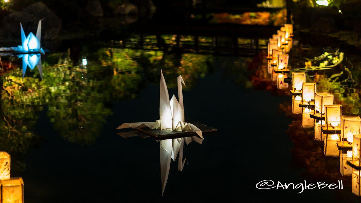 白鳥庭園 浮き灯篭づくり 2018