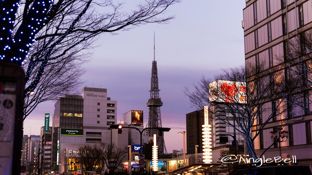 夕景 大津通から見る名古屋テレビ塔 February 23, 2019