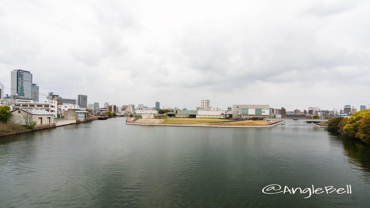 中川運河 小栗橋から見る広見憩いの杜 景観