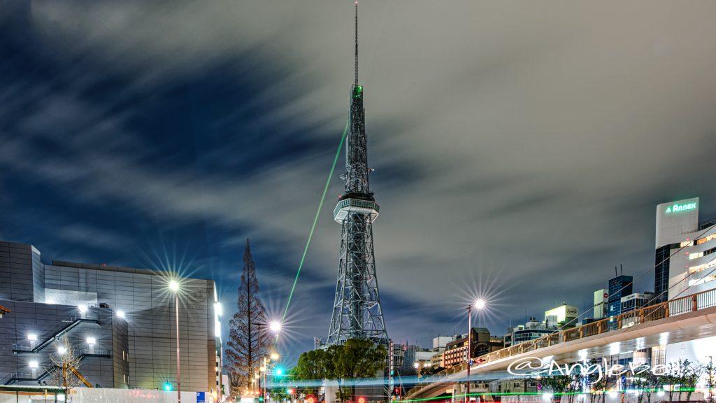 桜通久屋東からみる名古屋テレビ塔 January 2020