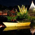 清羽亭と真生流 華と灯りの路地飾りライトアップ2016